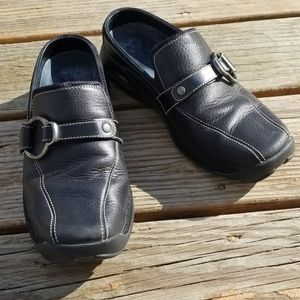Cole Haan Nike Air Black Leather Studs Loafers 7.5
